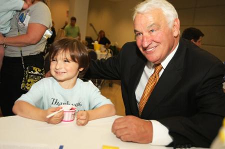 Tom Golisano with Children at URMC